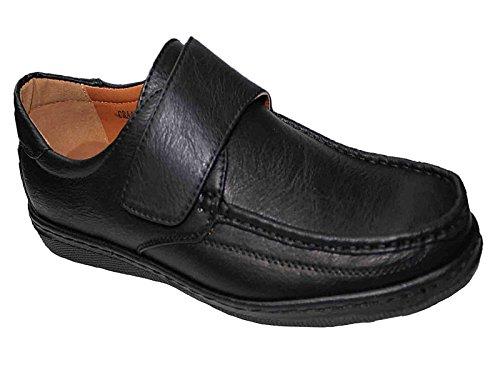 Foster Footwear , Herren Mokkasins Velcro: Black