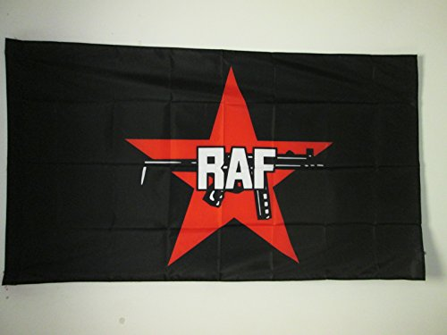 AZ FLAG Flagge ROTE Armee FRAKTION 150x90cm - RAF Fahne 90 x 150 cm Scheide für Mast - Flaggen Top Qualität