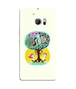 Sketchfab Design of Colorful Peacock With Tree Latest Design High Quality Printed Designer Back Case Cover For HTC 10