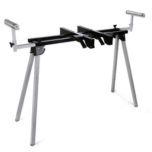 Preisvergleich Produktbild EBERTH 1600 mm Maschinenständer Maschinentisch universelles Untergestell (Tragkraft 136 kg, Tischhöhe 780 mm, Rollenauflage, Tischlänge o.V. 860 mm, Füße klappbar) grau-schwarz