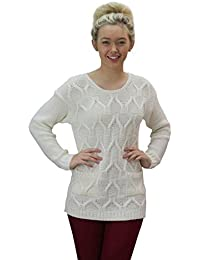 Celeb Look Two Pocket Cable Knitted Jumper