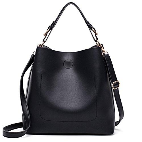 MYLL Fashion Solid Color Damen Handtaschen Schultertasche Oblique-Kreuz-Paket,Black-OneSize (Doppeltem Flap Mini)