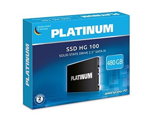 """Platinum HG 100│2,5\"""" interne SSD Festplatte│ 480 GB│  für Notebook, Laptop und PC, SATA III"""