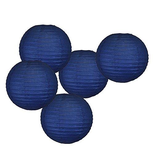 5x marineblau blau Nautical Themed Party zum Aufhängen, Papier, Kugel, Lampenschirme Hochzeit Geburtstag Baby Dusche Party Dekoration