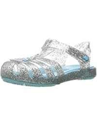 crocs Isabella Frozen Girls Sandal in Silver