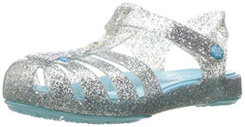crocs Isabella Frozen Sandal Silver 29-30 (Jungen Crocs Kleinkind)
