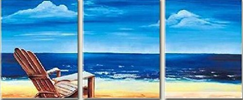 Dipinti olio su tela Vista Mare dipinto a mano l'Hotel Club cornice in legno interni della tela di canapa di paesaggio della decorazione astratto su tela decorazioni domestiche della parete di arte Set di 3 Panel , 30*40cm