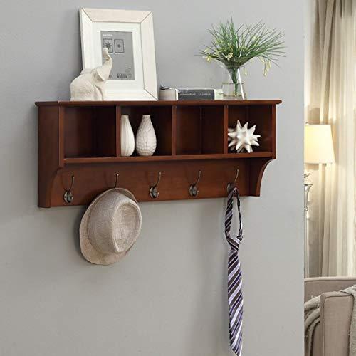 BYZ Hölzerne Haushalts-Aufhänger, Wand-Aufhänger, Wand-hängenden Regal-Regal-Zink-Legierungs-Haken-Schlafzimmer-Wohnzimmer-Wandschrank-kreative Wand-Feste Holz-Schließfächer, Wand-Tür-Rückseiten-Mant -