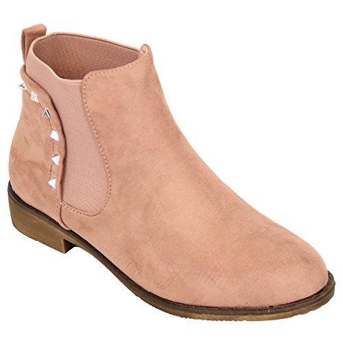 dames sans marque'élégant bottes Rose - 175715