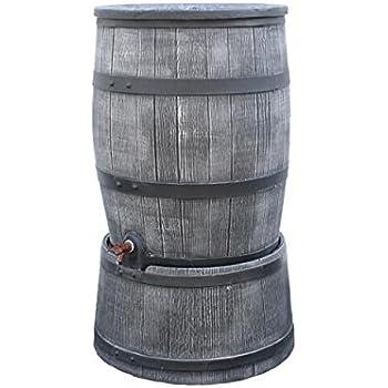 Regentonne anthrazit Roto 120 Liter holzoptik (Inkl