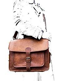 Znt Bags , 15 Inch Genuine Leather Laptop Office Messenger Bag For Men & Women NO - 1013