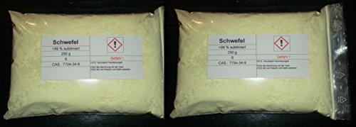 500 g Schwefel, sublimiert, säurearm, reinst >99,9% für Elementarsammlung -