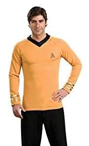 Rubie´s Ru888982md Star Trek Classic Gld Shirt Md W/Emblem Pin
