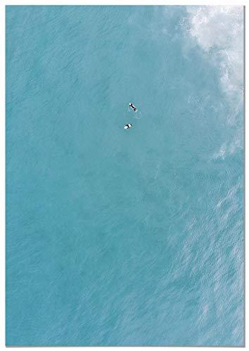 Panorama® Cuadro Cartón Pluma Vista Aérea Surf