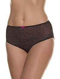 Ulla Popken Femme Grandes tailles Sexy Slips Bikini Culotte Taille Haute Coton Full maxi Brief Slips 708516