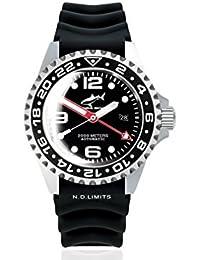 Chris Benz Deep 2000m Automatic GMT Bubble CB-2000A-D2-KB Automatic Mens Watch Diving Watch