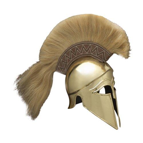 Rüstung Venue Italic korinthischen griechischen Helm (Messing) mit Feder - One Size - Messing