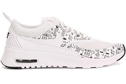 Nike - Wmns Air Max Thea Print, Scarpe sportive Donna WHITE/WHITE-BLACK