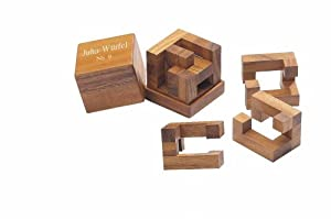 """Philos 6247 - Juego de lógica de madera """"Cubo Juha de 9"""""""
