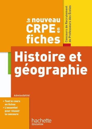 CRPE en Fiches Histoire Géographie