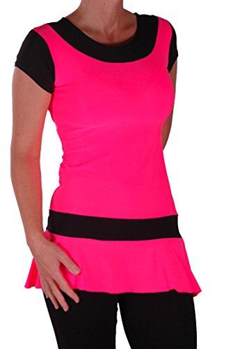 EyeCatch - Robe mini courte fluo - Eve - Femme Neon Rose