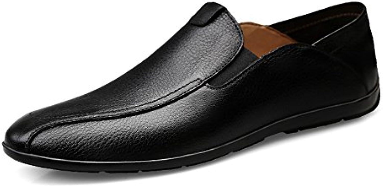 Mocassino da uomo di Coloreeee tinta unita Slip Slip Slip on Mocassini morbidi Free Simple scarpe (Coloree   Nero, Dimensione... | Buona qualità  | Maschio/Ragazze Scarpa  a44982