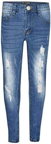 A2Z 4 Kids® Bambini Ragazzi Skinny Jeans Progettista Denim Strappato Elastico Pantaloni Moda Pantaloni Nuova E
