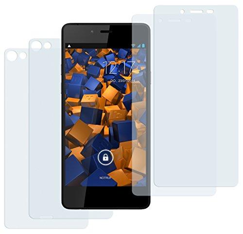 mumbi Schutzfolie kompatibel mit Wiko Highway Pure Folie klar, Bildschirmschutzfolie (4x)