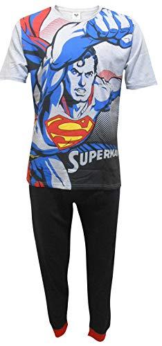 Superman DC Comics Herren Flying Zweiteiler Pyjama Set - Medium