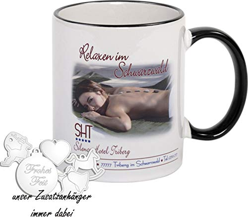 Premium Fototasse selbst gestalten - Keramik-Tasse mit eigenem Spruch, Namen & Foto - Namenstasse, Motiv-Tassen, Kaffee-Becher bedrucken lassen – Bedruckte Tasse mit Text, Foto & Sprüchen als Geschenk-Idee