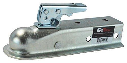 Kanal-koppler (GoTow gt-100035,1cm gerade Ball Anhängerkupplung Trailer Koppler 2Kanal (SAE Klasse II 3500lbs), Silber)