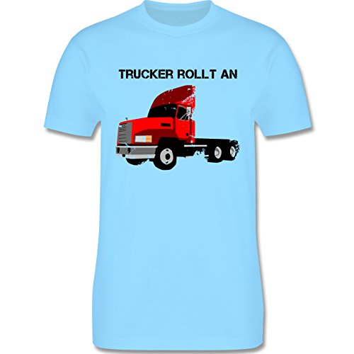 Trucker - Trucker rollt an - Herren Premium T-Shirt Hellblau