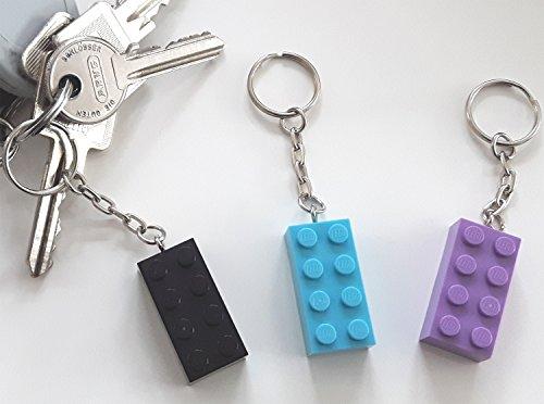 ☀ 3 Stück Schlüsselanhänger aus Lego® Bausteinen ☀ thumbnail