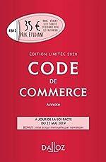 Code de commerce 2020 annoté. Édition limitée - 115e éd. de Nicolas Rontchevsky