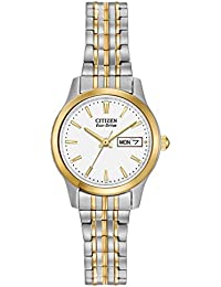 8a1f04383e3 Citizen Women s Eco-Drive Flexible Band Two-Tone Watch  EW3154-90A