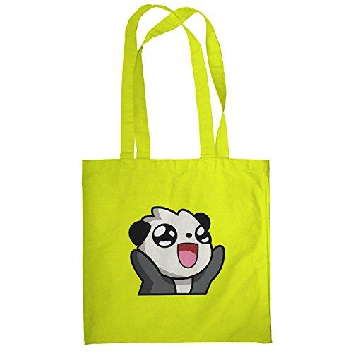 Texlab–Panda Face–sacchetto di stoffa Gelb