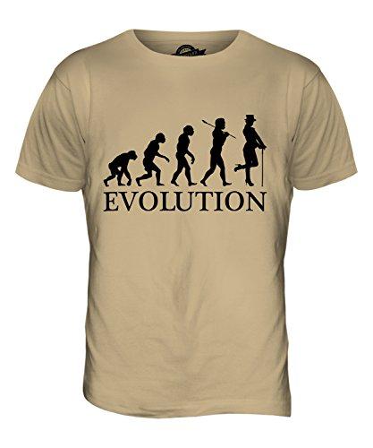 CandyMix Kabarett Tänzer Evolution Des Menschen Herren T Shirt Sand