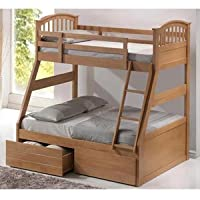 Artisan Oak Three Sleeper Bunk Bed