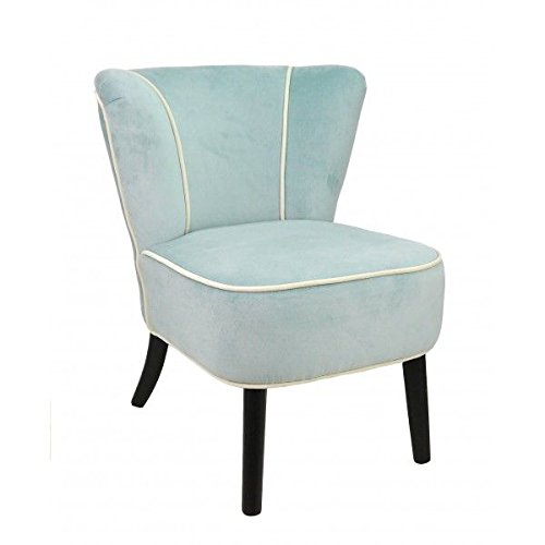So Skin Fauteuil Crapaud Bleu Clair Aspect Velours