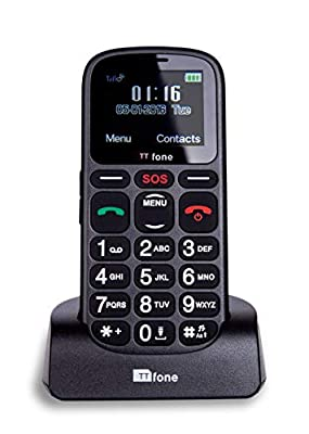 TTfone Comet Big Button Basic Simple Easy to Use Pay As You Go Emergency Mobile Phone