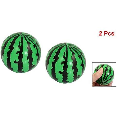 Dcolor 2 Pz Palla giocattolo Schiuma angurie Bambino Spugna Verde Nero 2.3 (2 Spugna Palle)