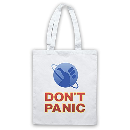 Inspiriert durch Hitchhikers Guide To The Galaxy Don't Panic Inoffiziell Umhangetaschen Weis