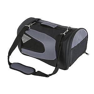 Amzdeal Hundetragetasche, Tragetasche Flugtasche Transporttasche Reisetasche Hund oder Katze, schwarz