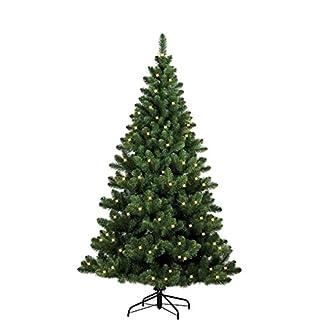 Forever-Green-958933-Auburn-knstlicher-Weihnachtsbaum-H-120-x-D-93-cm-PVC-inklusive-100-LED-Lichter-202-Spitzen-Metallstnder-grn