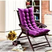 HDWN Cuscino sedile nuovo doppia - faccia pi¨´ spessa reclinabile pad sedia a dondolo capo ufficio sedia cuscino per sedie , deep purple