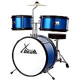 XDrum Junior KIDS Schlagzeug inkl. DVD blau