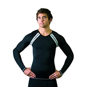 Linebreak Men's Compression Long Sleeve Tee Black/Silver Small