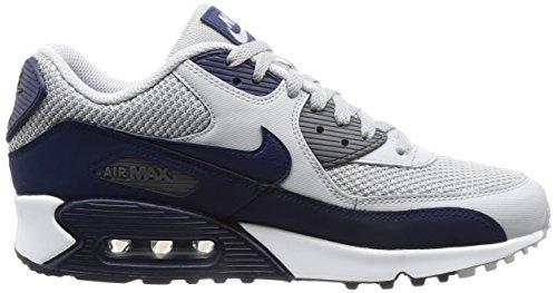 Nike Herren Air Max 90 Essential Low-Top Grau (Wolf Grey/binary Blue-dark Grey-white)