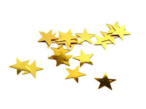 Set von 500 Glitter goldenen Sternen 1cm - Star Glitzer - Dekorative Glitter - Goldener Stern Deko Tisch - zum Scrapbooking / Kartenherstellung - Dekoration - dekorative Glitzer zu Stick (Kleidungsstück Genähte)