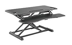HALTERUNGSPROFI Steh-Sitz Schreibtisch Sit-Stand Workstation Höhenverstellbarer Aufsatz für den Schreibtisch, zum Arbeiten im Sitzen oder Stehen mit Gasdruckfeder GTS-012 (95cm)